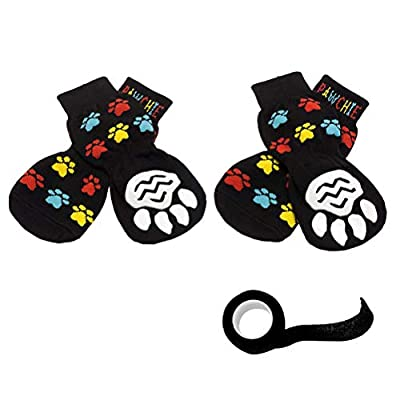 PAWCHIE Anti-Slip Dog Socks for Hardwood Floors, Pet Paw Protection for Injured Paw, Indoor Wear