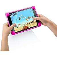 """Funda tablet silicona universal compatible con cualquier tablet de cualquier tamaño como 7"""", 8"""", 9"""", 9.7"""", 10.1 fucsia"""