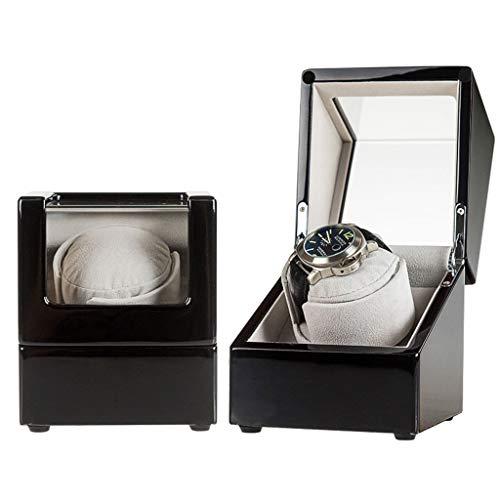 Oksmsa Lujo Soltero Automático Cajas Giratorias para Relojes 5 Modo de Roaming, Antimagnético Bobinadora para Relojes, Mudo Motor, Acrílico Vaso, Juego para Todas Relojes (Color : C)
