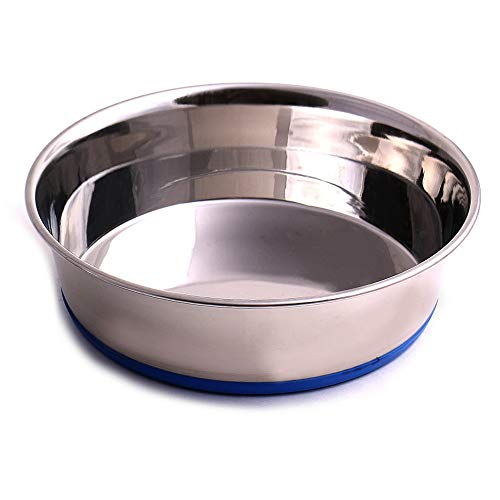 Max and Neo Heavyweight Non-Skid Rubber Bottom Stainless Steel Dog Bowl - We Donate a Bowl to a Dog Rescue for Every Bowl Sold (Medium - 50oz - 8