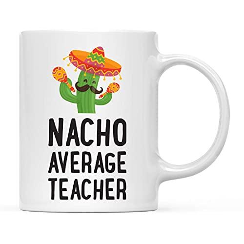 Taza de café con temática de cactus divertido, regalo de Nacho Average Boss, macho, 1 paquete, temática mexicana, novedad de cumpleaños o Navidad, ideas para regalos
