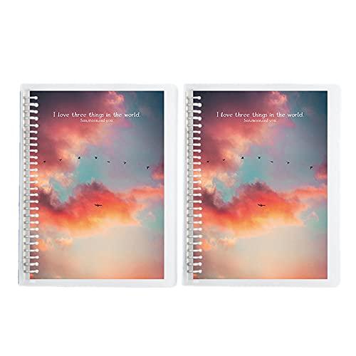 Cuaderno A5 Lined Journal - 2 Paquete Forrado A5 Notebook Journal Con Anillo, 25.2 X 17.6 Cm, LáGrimas FáCilmente, Llantas De Diario Espesadas Con Hebilla MetáLica-D