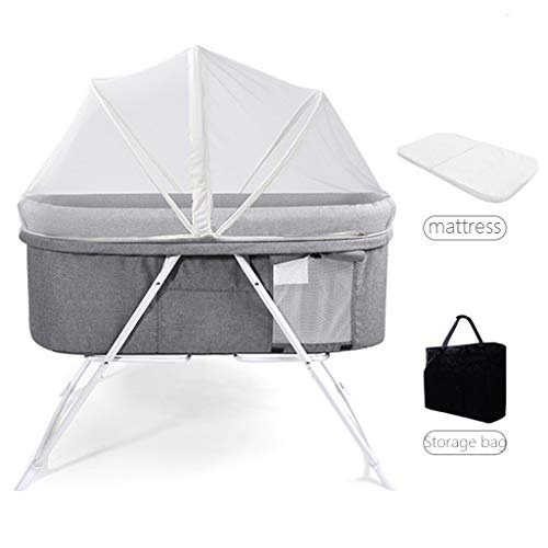 Buy Cheap Rocking Chair Baby Bassinet Cradle Bedside Sleeper Easy Folding Portable Crib Zippered Bre...