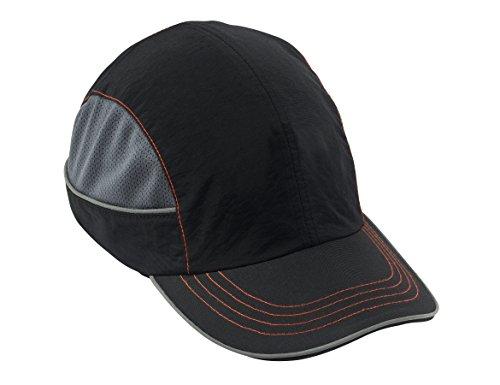 Safety Bump Cap, Baseball Hat Style, Comfortable Head Protection, Long Brim, Skullerz 8950,Black