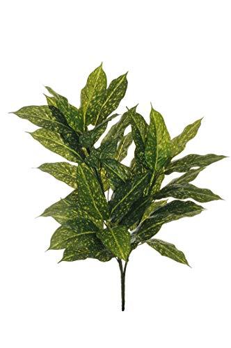 Pandecor Künstliche Aucuba Pflanze mit 3 Zweigen und 40 Blatt Grün/Gelb 86,5 cm