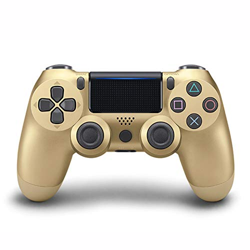 EtexFan Replacement PS4 Game Controller compatible for PS4/PS4 Pro/PC/Phone/Ipad,PS4 Bluetooth Game Controller, Golden Classic