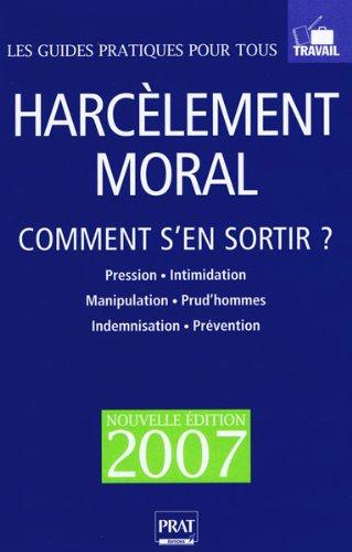 Harcelement Moral Comment Sen Sortir