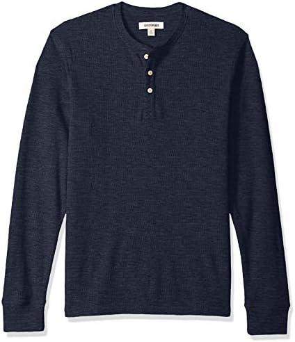 Amazon Brand Goodthreads Men s Long Sleeve Slub Thermal Henley Navy X Large product image
