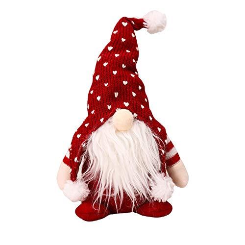 Exuberanter Weihnachtswichtel Deko Schwedische Wichtel Santa Dolls Weihnachtsfigur Wichtel Figuren Weihnachten GNOME Plüsch Gesichtslose Puppe Dekoration Kinder Geburtstagsgeschenke