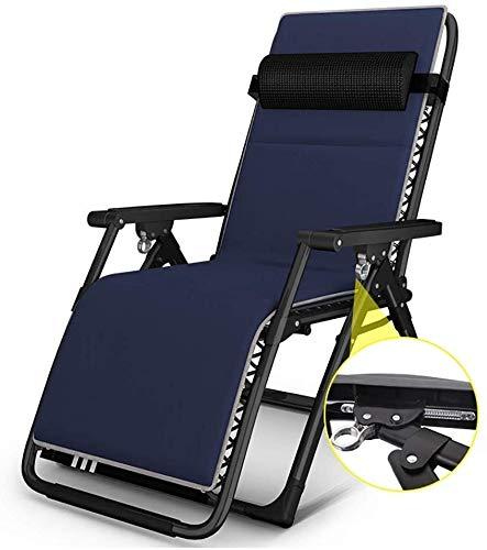 DAGCOT Las sillas sillón reclinable Plegable al Aire Libre al Aire Libre de la Comida campestre Que acampa Tomar el Sol Sillas de Playa Silla reclinable Salón (Color : A)