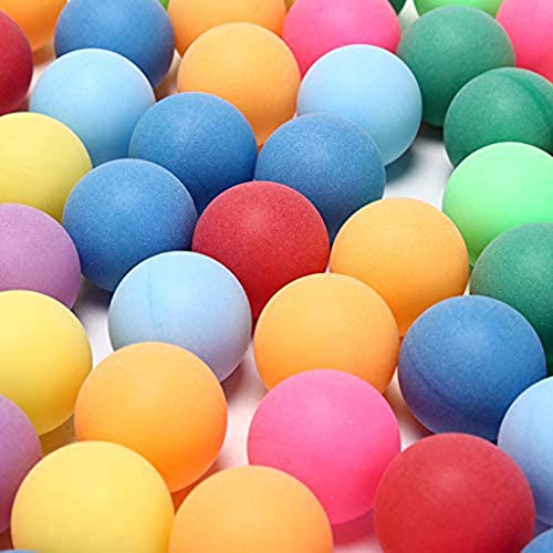 Review Of SUNSKY 50Pcs/Pack Colored Ping Pong Balls 40mm 2.4g Entertainment Table Tennis Balls Mixed...
