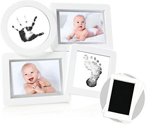 pearhead(ペアヘッド) ベビー プリント・コラージュフレーム 記念日 成長記録 写真立て 手形 足形 DIY インテリア 子ども部屋 マタニティー ベビー ギフト 出産祝い 内祝い ホワイト 1個 (x 1) NZPH13041