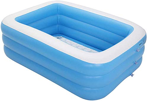 paddling pools LPing 150cm/180cm/210cm/260cm ChildrenRectangular Inflatable Family Paddling Pool,Kids Inflatable Pool for Summer Party for Ages 3+,Includes Electric Pump