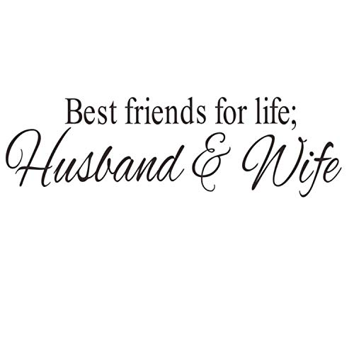 Best Friends for Life Husband & Wife Quotes Wall Decor for Bed Room Wall Decals Stickers DIY Hole View for Bedroom Room/Kids Room/Refrigerator Decoration