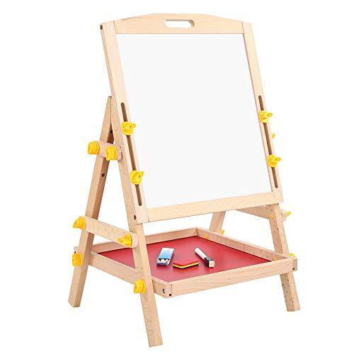 Tablero de dibujo de pie, tablero de pintura de doble cara para niños, juguete de regalo ajustable, 11 x 13.5 x 22 pulgadas