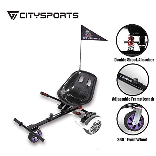 CITYSPORTS Hoverkart- Go Kart Version Enfant pour Hoverboards - Plus sûr pour Les Enfants - Toutes...