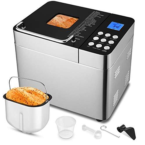 25-in-1 Bread Machine, 2LB Stainless Steel Programmable Bread Maker Machine, Breadmaker with...