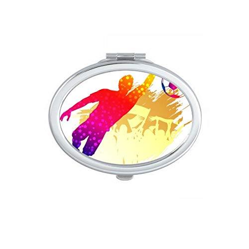 DIYthinker Fußball-Torwart Blöcke Soccer Oval Compact Make-up Spiegel Beweglicher Nette Handtaschenspiegel Geschenk