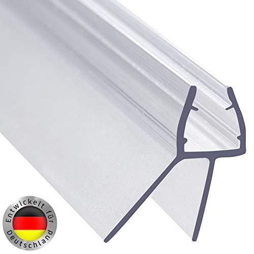 AULETT Premium Qualität Duschdichtung 100 cm für Duschtür und Duschkabinen Dichtung für 6mm, 7mm und 8mm Dusche Glastür - Gummilippe, Duschlippe mit Wasserabweiser für Duschwand