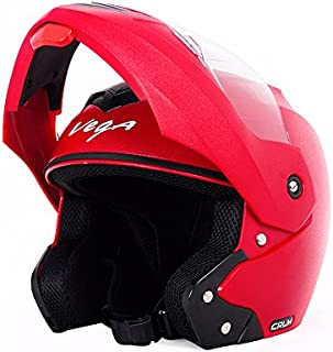 Vega Crux HE1283 Full Face Helmet (Red, L)