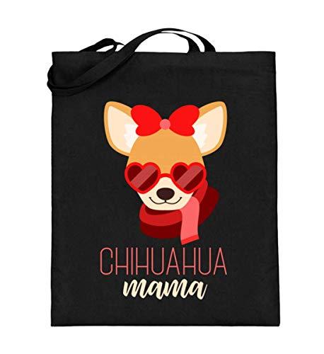 Chihuahua Mama voor honden fans - jute zak (met lange hengsels)