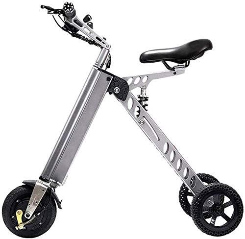 E-Bike Mountainbike Electric Snow Bike, schnelle elektrische Fahrräder für Erwachsene Tragbare Kleine elektrische Erwachsene Fahrrad Falten Elektrische Fahrrad Roller Kleine Mini Elektrische Dreirad W