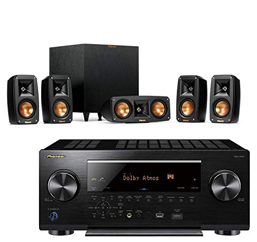 Best Price! Klipsch Reference Theater Pack 5.1 Surround Sound System Bundle with Pioneer VSX-LX503 9...