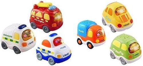 mejor reputación Vtech Toot Toot paquete 2 2 2 pack de 3 vehículos de todos los días y los vehículos de emergencia 3 (Se distribuye desde el Reino Unido)  artículos novedosos