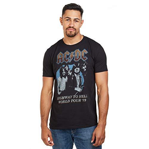 Générique AC/DC ACDC-Highway World Tour 79' -T Shirt XXL, Noir (Black Blk), XX-Large Homme