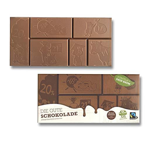 Die Gute Schokolade 14 Tafeln Schokoladentafel Fairtrade Großpackung ( 14 x 100g )