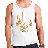 Star Wars Darth Vader The Sith Lord Orange Siluetas Men's Vest blanco S