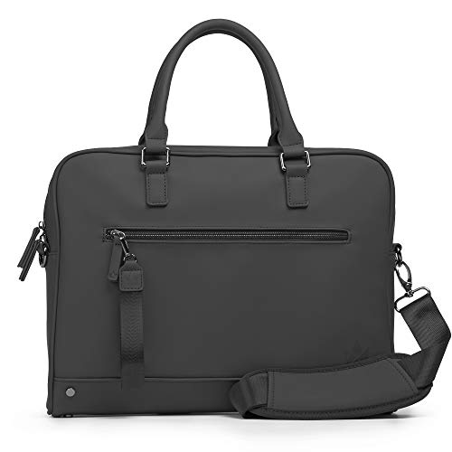 The Friendly Swede laptoptas, 13 inch, minimalistische werktas, businstas, aktetas, heren en dames, veganes PU - VRETA - met schouderriem
