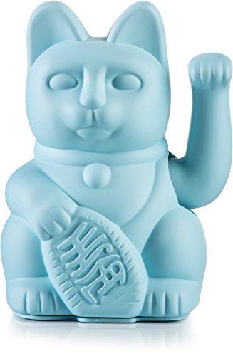 Donkey Products - Lucky Cat Blue - blaue Winkekatze   Japanische Deko-Katze in stylischem matt-Farbton 15cm hoch