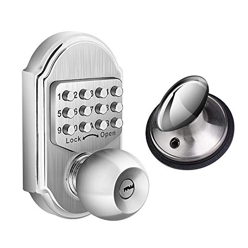 Elemake Keyless Entry Door Lock Deadbolt Keypad Mechanical Stainless Steel (Pass Code + Key, Higher...