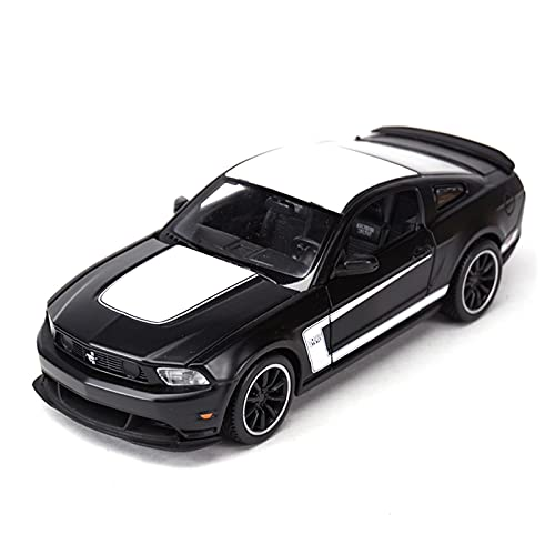 MHDXZ 1:24 para Ford Mustang Boss 302 Coche Deportivo aleación estática vehículos fundidos presión Juguetes Coche Modelos coleccionables (Color : Negro)