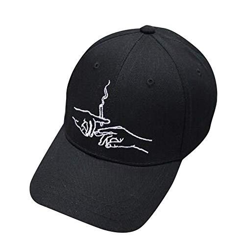 ASJKB Baseballmütze Hüte für Damen Herren Caps Damen Mans Cotton Hochwertige bestickte Unisex Baseball Caps, schwarz