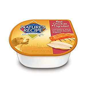 Nature's Recipe Wet Dog Food, Chicken & Wild Salmon Recipe In Broth, 2.75-Ounce Cup (Pack of 24)