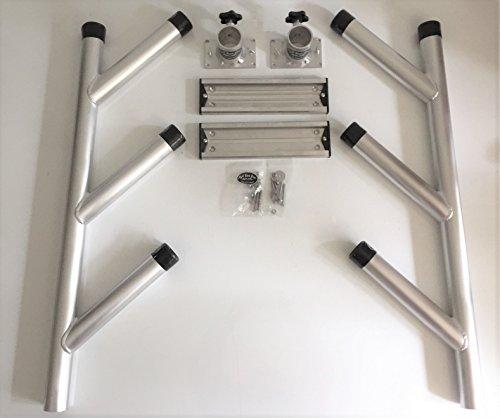 High Seas Gear Aluminum Triple Fixed Rod Holder Tree Kit #2