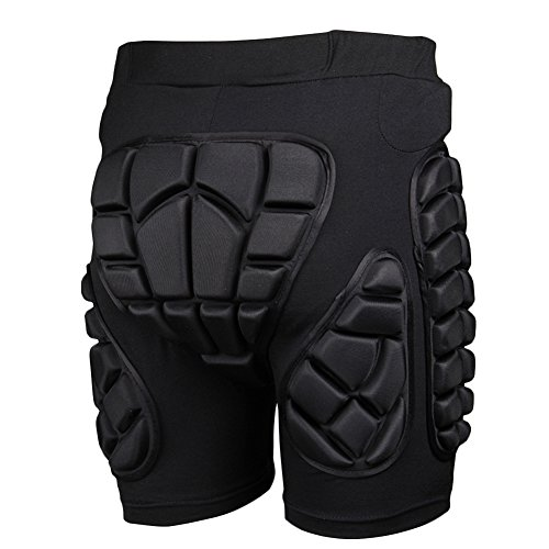 Adult 3D Hip EVA Padded Short Protective Gear for Skiing Skating Snowboard Impact Protection (M)