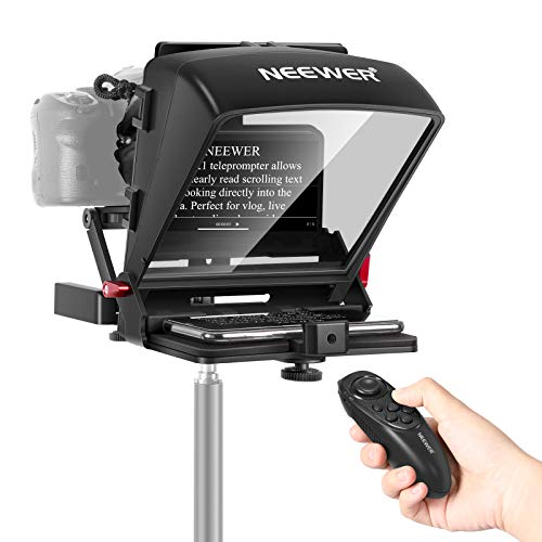 Neewer X1 Mini Teleprompter Portable Smartphone Teleprompter Artifact Video with Remote Control Compatible with iPhone Samsung Android and Mirrorless Camera Recording