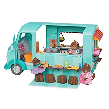 Li'l Woodzeez Food Truck – Honeysuckle Sweets & Treats – 89pc Toy Set with Play Food Ice Cream Machine and Kitchen – Toys and Gifts for Kids Age 3+