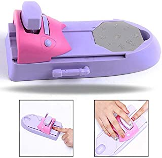 LHKJ Kit de Máquina de impresión de uñas DIY con 6 Placas de patrón