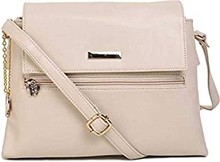 Butterflies Women Sling Bag For Ladies and Girl's (Cream) (BNS 0719CRM)