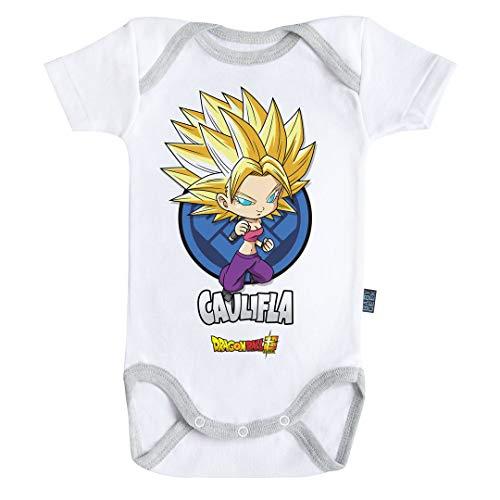 Baby Geek Caulifla - Dragon Ball Super ™ - Licence Officielle - Body Bébé Manches Courtes (3-6 Mois)