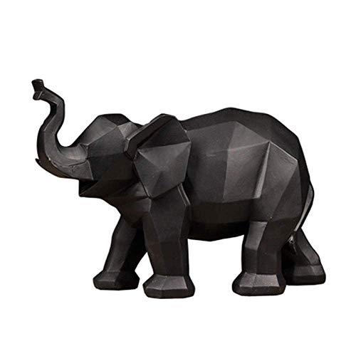 FTFTO Equipo de Vida Esculturas Estatuas Adornos Estatuilla Figuras coleccionables Escultura Estatua Animal Origami Elefante Escultura Animal Decoración del hogar Artesanía