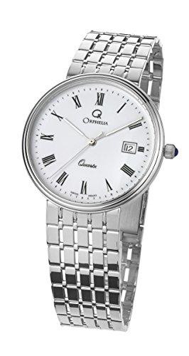 Orphelia Herren Analog Quarz Uhr mit Weißgold Armband MON-7080/1