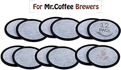 Replacement Charcoal Water Filter Discs for Mr. Coffee Machines - Universal Fit Mr Coffee Compatible Filters - Mr Coffee Coffee Brewers