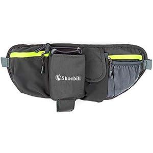 Shoebill ウェストポーチ ウェストバッグ メンズ レディース ランニング ペットボトル 防水 3L(グレー)