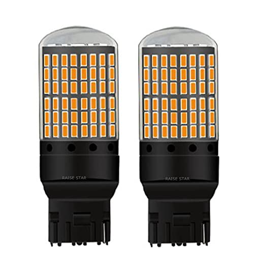 Luz de Niebla 2 unids T20 7440 W21W WY21W 2000LM Super Bright CANBUS Sin Error Bombillas de Freno de automóviles Auto Lámpara de Marcha atrás Lámpara Durante el Día de Día (Emitting Color : Red)