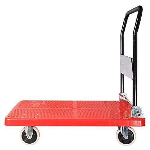 MTYLX Tirón de la Mano Pesada de la Compra, Carretilla Plegable de Acero de Plástico de Camiones de Tracción para Mover Equipaje de Viaje Personal Auto Y Uso de la Oficina para el Equipaje, Viaje, Au